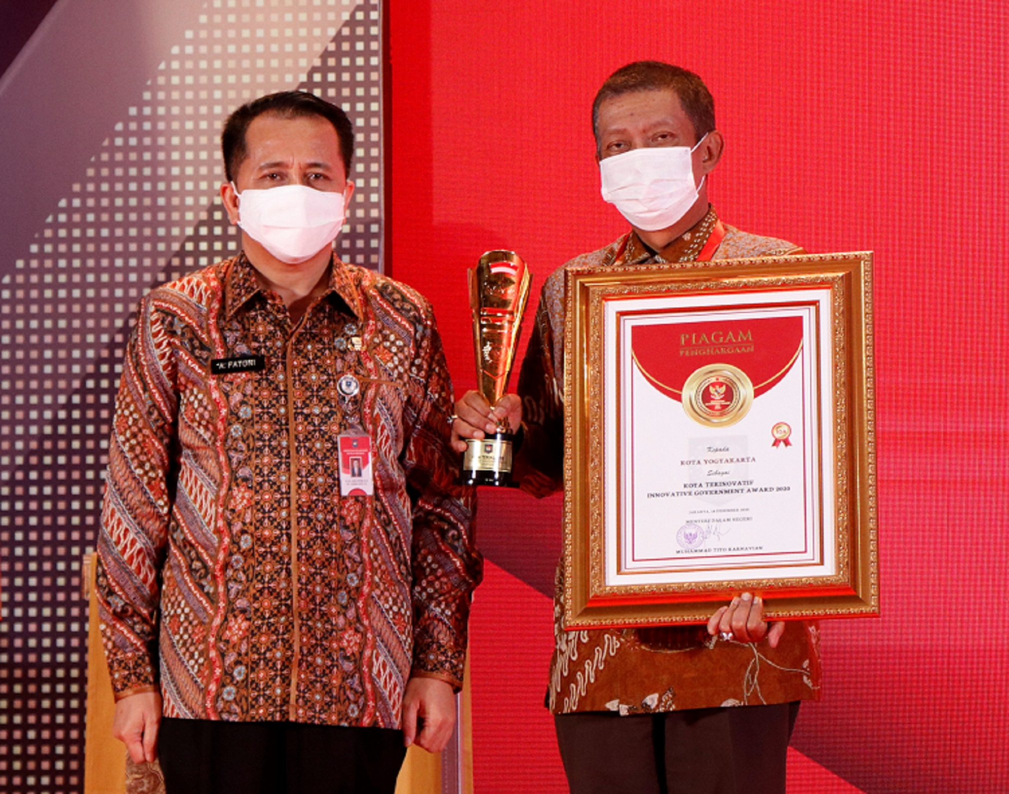 Kota Yogyakarta peroleh penghargaan sebagai Kota Innovatif dalam IGA 2020