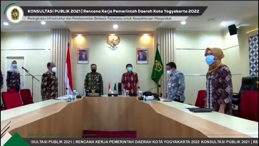 Konsultasi Publik RKPD 2022 dengan Tema : Kesejahteraan Masyarakat Hasil Peningkatan Infrastruktur dan Perekonomian Berbasis Pariwisata di Tahun 2022
